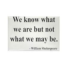 Shakespeare 3 Rectangle Magnet
