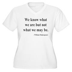 Shakespeare 3 Women's Plus Size V-Neck T-Shirt