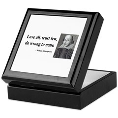 Shakespeare 4 Keepsake Box