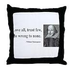 Shakespeare 4 Throw Pillow
