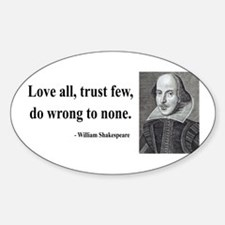 Shakespeare 4 Oval Decal