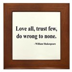 Shakespeare 4 Framed Tile