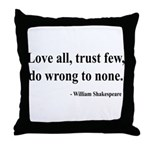 Shakespeare 4 Throw Pillow