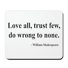 Shakespeare 4 Mousepad