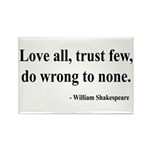 Shakespeare 4 Rectangle Magnet (100 pack)