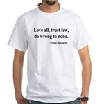 Shakespeare 4 White T-Shirt