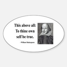 Shakespeare 5 Oval Decal