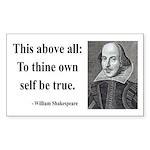 Shakespeare 5 Rectangle Sticker