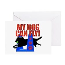 My Dog Can Fly! Greeting Card