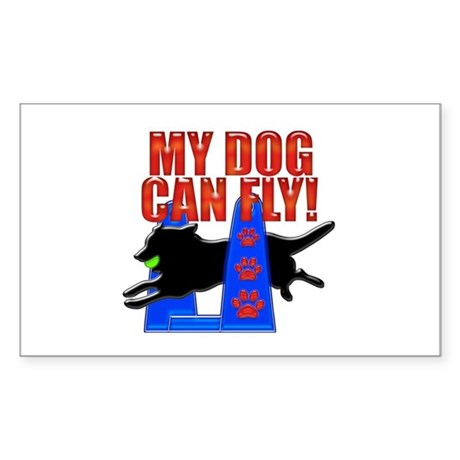 My Dog Can Fly Sticker (Rectangle)