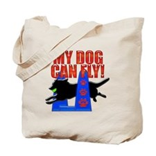 My Dog Can Fly Tote Bag