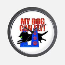 My Dog Can Fly Wall Clock