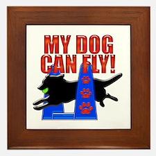 My Dog Can Fly Framed Tile