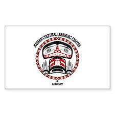 Kasaan Cultural Learning Cent Sticker (Rectangular