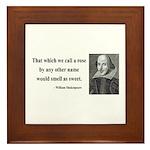 Shakespeare 6 Framed Tile