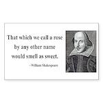 Shakespeare 6 Rectangle Sticker