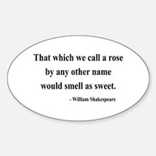 Shakespeare 6 Oval Decal