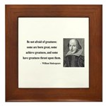 Shakespeare 7 Framed Tile