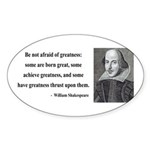 Shakespeare 7 Oval Sticker