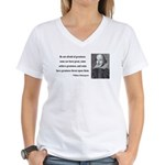 Shakespeare 7 Women's V-Neck T-Shirt