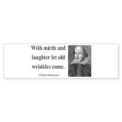 Shakespeare 9 Bumper Bumper Sticker