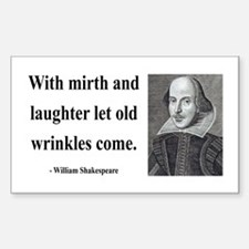 Shakespeare 9 Rectangle Decal