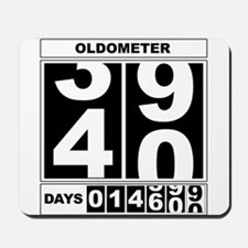 40th Birthday Oldometer Mousepad