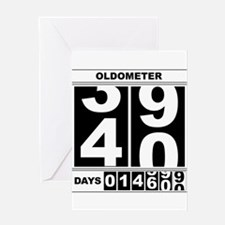 40th Birthday Oldometer Greeting Card