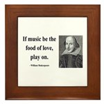 Shakespeare 10 Framed Tile