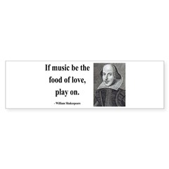 Shakespeare 10 Bumper Bumper Sticker