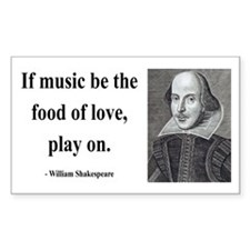 Shakespeare 10 Rectangle Decal