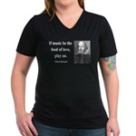 Shakespeare 10 Women's V-Neck Dark T-Shirt