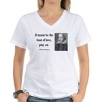 Shakespeare 10 Women's V-Neck T-Shirt