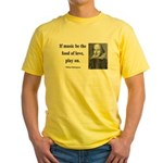 Shakespeare 10 Yellow T-Shirt