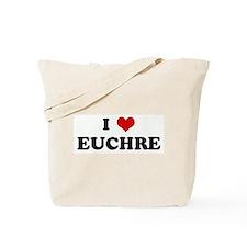 I Love EUCHRE Tote Bag