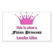 This is what an Fijian Princess Looks Like Stickers