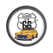 Illinois Route 66 Wall Clock