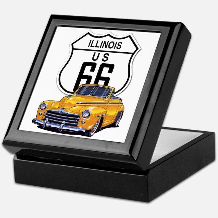 Illinois Route 66 Keepsake Box