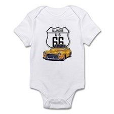 Illinois Route 66 Infant Bodysuit