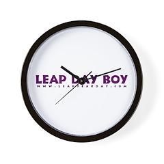 Leap Day Boy Wall Clock