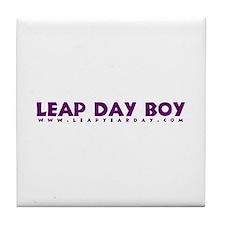 Leap Day Boy Tile Coaster