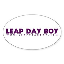 Leap Day Boy Oval Decal