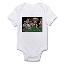 Dogs Playing Pool Infant Bodysuit