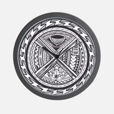 sacred center tattoo seal Wall Clock