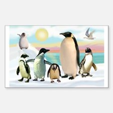 The Penguin Party Rectangle Decal