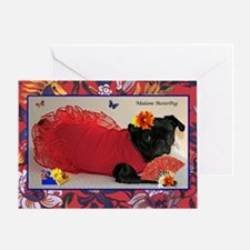 Madame ButterPug Birthday Greeting Card