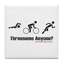 """Threesome Anyone?"" Tile Coaster"