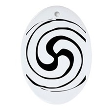 Celtic Spiral Oval Ornament