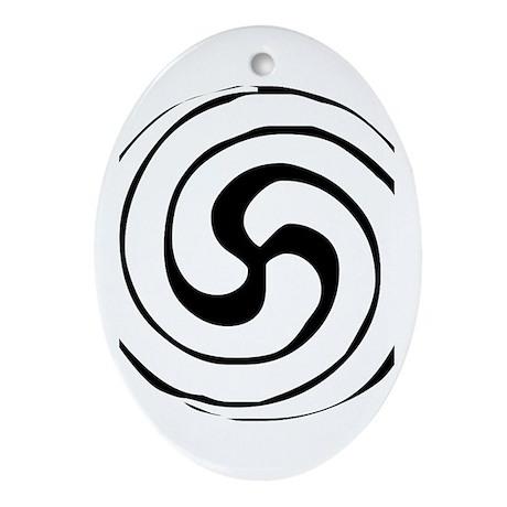Celtic Spiral Oval Ornament