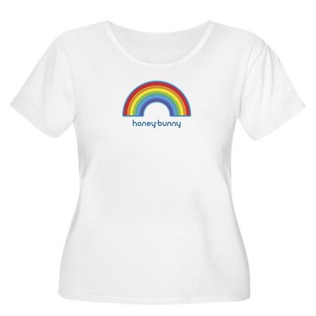 honey-bunny (rainbow) Women's Plus Size Scoop Neck